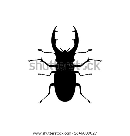 beetle bug silhouette vector