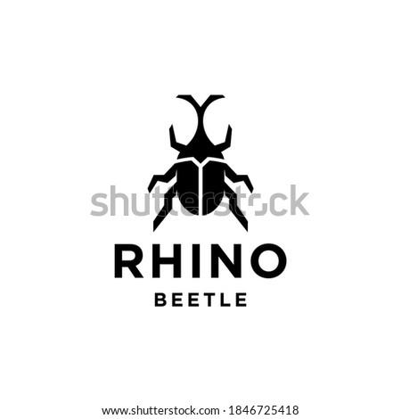 beetle logo vector icon design