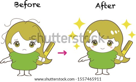 before and after the girl's