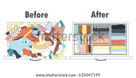 before and after tidying up