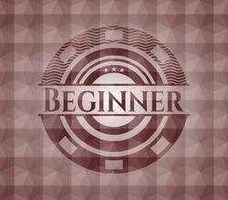 Beginner red seamless geometric emblem.