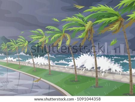 beginning of storm in ocean