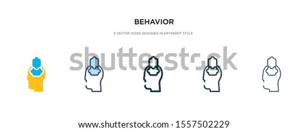 behavior icon in different style vector illustration. two colored and black behavior vector icons designed in filled, outline, line and stroke style can be used for web, mobile, ui