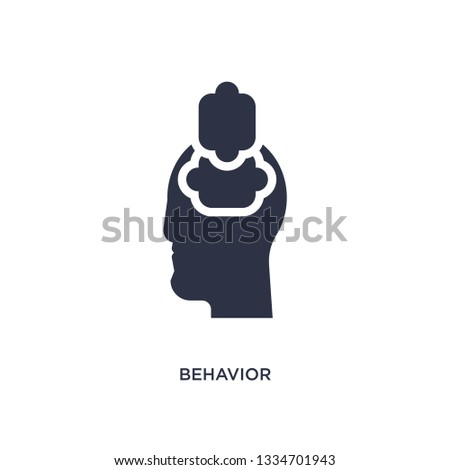 behavior icon. Simple element illustration from marketing concept. behavior editable symbol design on white background. Can be use for web and mobile.