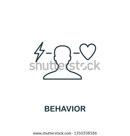 Behavior icon. Thin line design symbol from business ethics icons collection. Pixel perfect behavior icon for web design, apps, software, print usage.