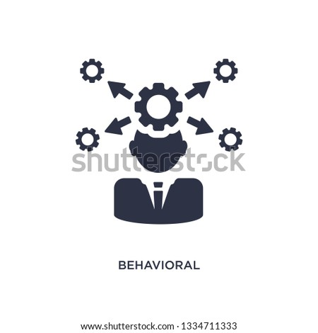 behavioral competency icon. Simple element illustration from human resources concept. behavioral competency editable symbol design on white background. Can be use for web and mobile.