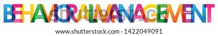 BEHAVIORAL MANAGEMENT colorful typography banner