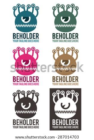 beholder vector logo template