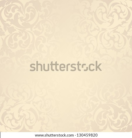 beige background with floral elements