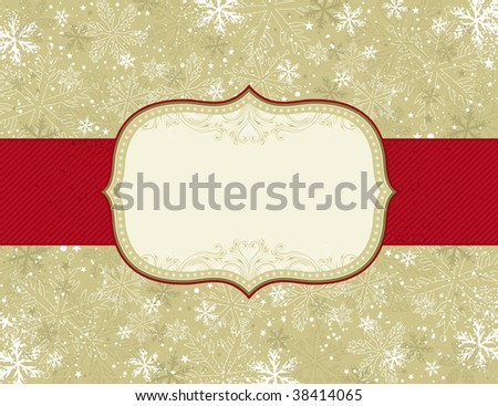 beige christmas background with christmas elements,  vector illustration