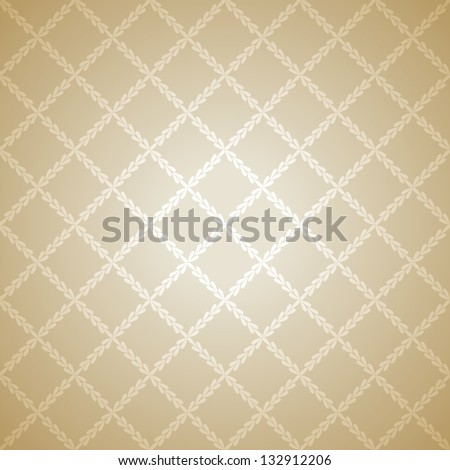 Beige cloth texture background. Vector illustration for your warm confident design. Book and wall cover. Fabric bright romantic canvas wallpaper with delicate striped pattern.