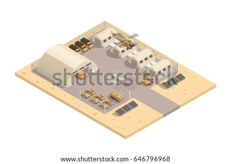 beige color military isometric