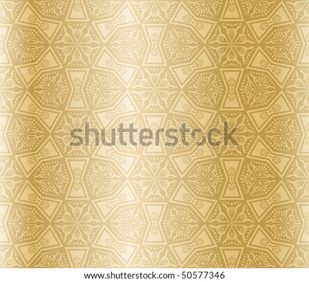 Beige colored seamless arabesque (Eps10); JPG version also available