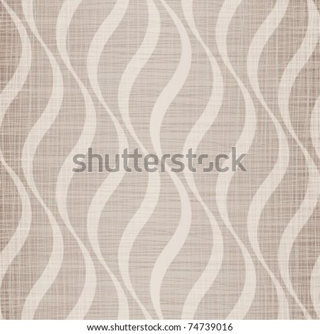 Beige fabric with drawing waves