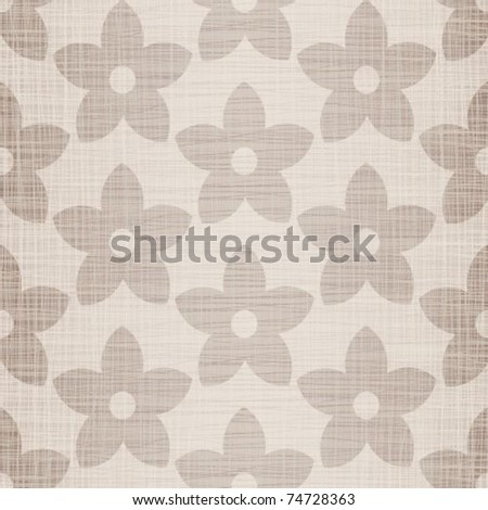 Beige fabric with florets a seamless background