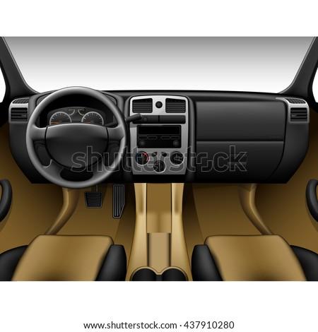 beige leather car interior