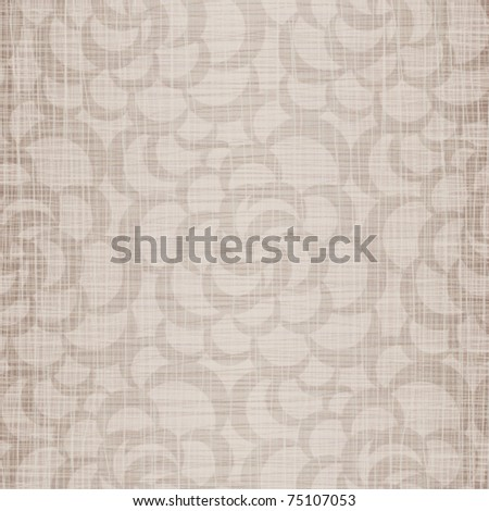 Beige natural flax with openwork drawing