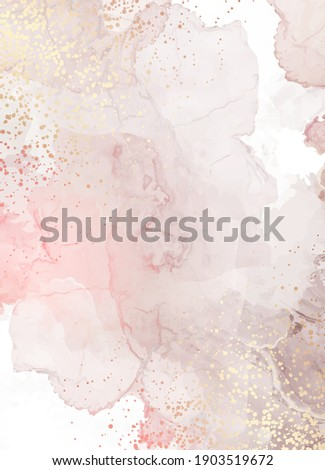Beige quartz geode vector design frame.Stylish taupe brown glitter texture card. Gold border. Sparkling gem. Natural stone.Trendy wedding invitation. Dye splash style.Alcohol ink.Isolated and editable