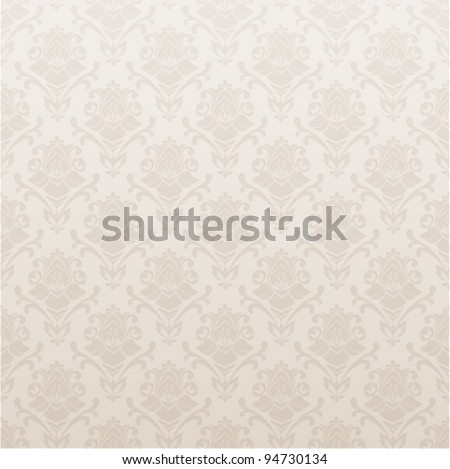 Beige Seamless Vector Background With Floral Pattern Old Wallpaper Illustration