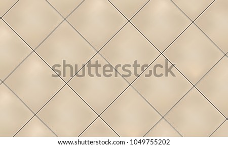 Beige vertical square ceramic tiles. Vector illustration.