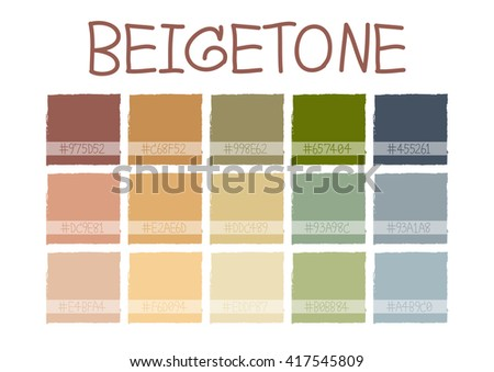 beigetone color tone with code