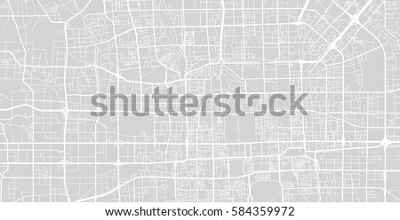 beijing vector city street map