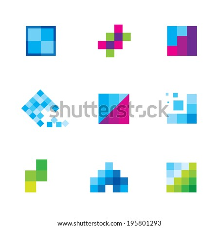 Being creative art with geometric business logo motive icon