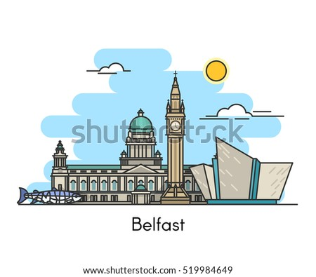 belfast skyline  ireland