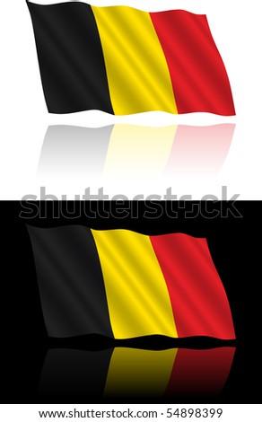 belgian flag flowing