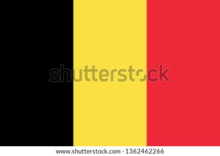Belgian or Kingdom of Belgium BE official national flag sign icon flag icon Photo stock ©