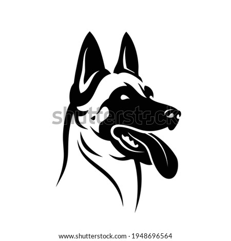 Belgian shepherd dog Malinois face - isolated vector illustration Сток-фото ©