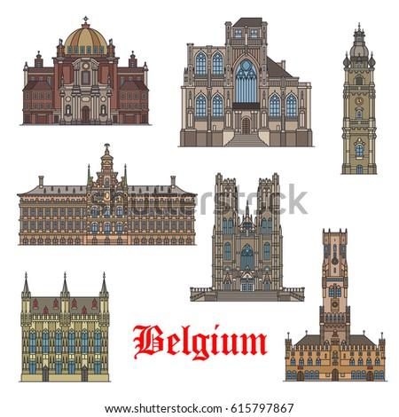 belgian travel landmarks thin