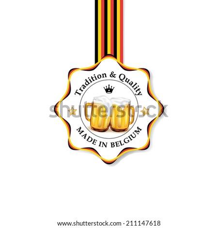belgium beer label vector beer