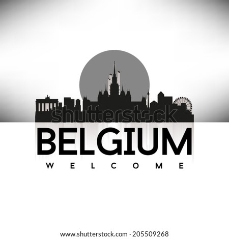 belgium black skyline