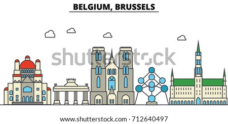 belgium  brussels. city skyline ...