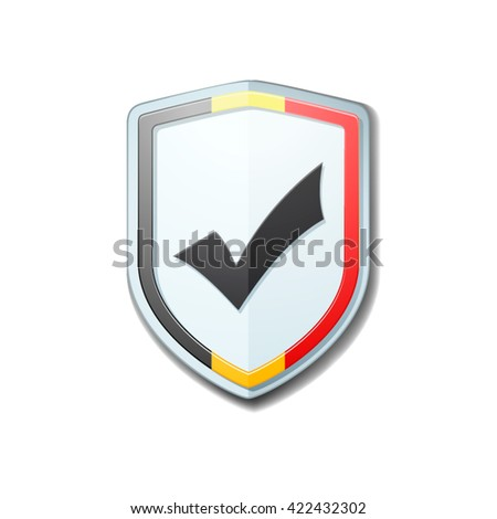 belgium checkmark shield sign