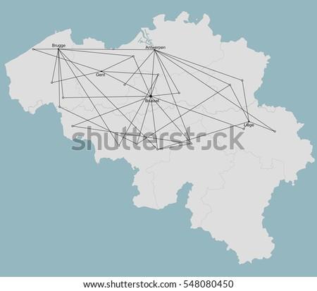 belgium city network