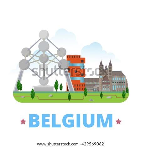 belgium country design template
