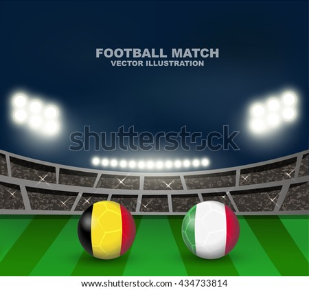belgium flag and italy flag on