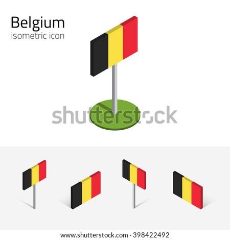 belgium flag  vector set of