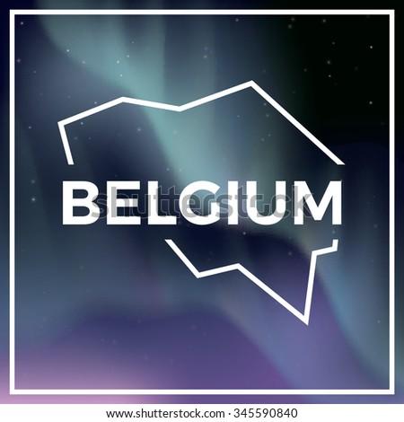 belgium map against the