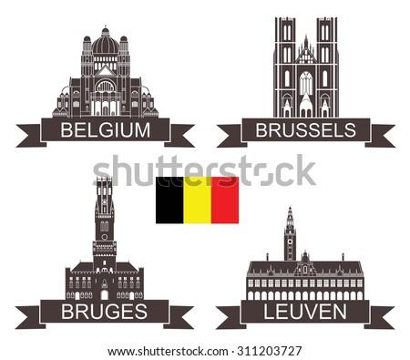 belgium. vector. silhouette....
