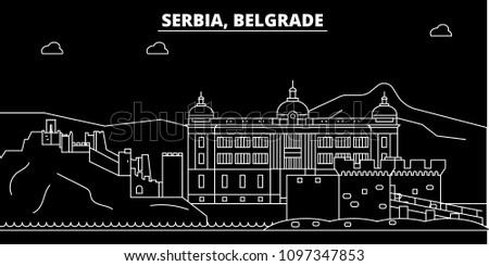 belgrade silhouette skyline