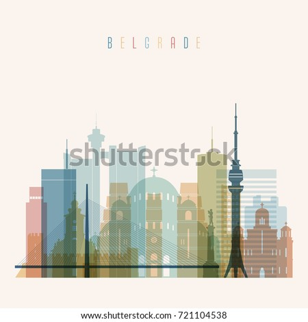 belgrade skyline detailed