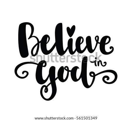 believe in godtypography