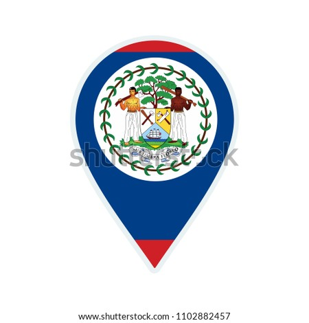 belize flag icon travel icon
