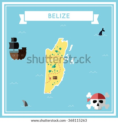 belize flat treasure map