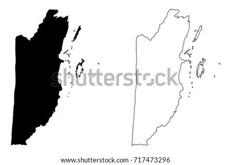 belize map vector illustration