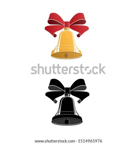 Bell. Christmas bell. Vector illustration