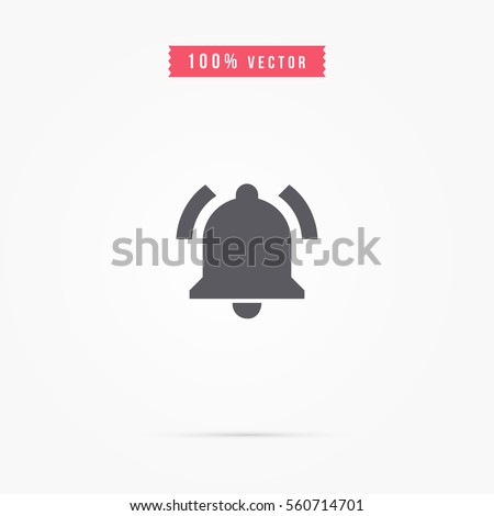 Bell icon. alarm sign